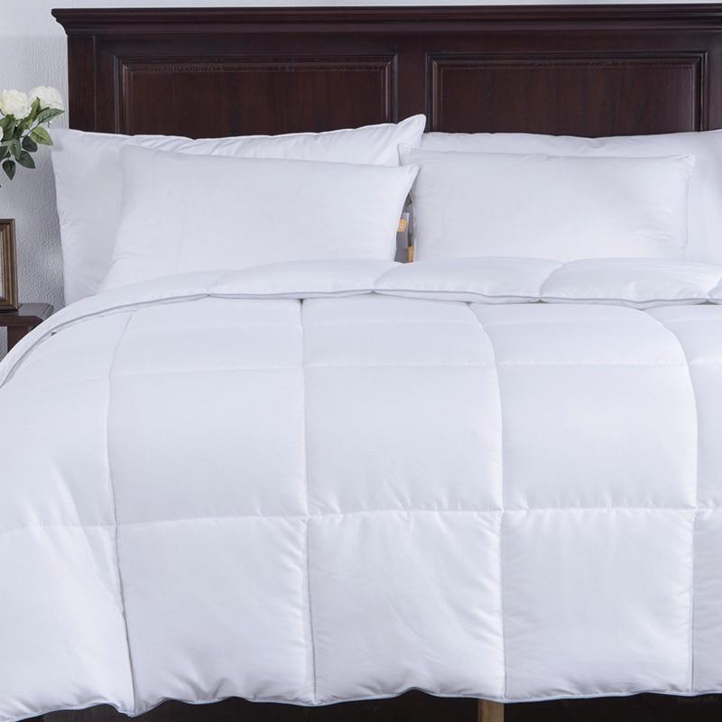 f76322e7d2 Puredown Home Bedding White Down Alternative Comforter Duvet Insert Four  Leaf Clover Pattern Peach Skin Fabric Full Queen Size-in Comforters    Duvets from ...