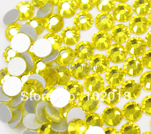 2014 hot sale! ! Free Shipping ss5  1440pcs bag Citrine Color Flatback non  hotfix rhinestone Nail art crystal beads For DIY-in Rhinestones from Home  ... d10e443c2744