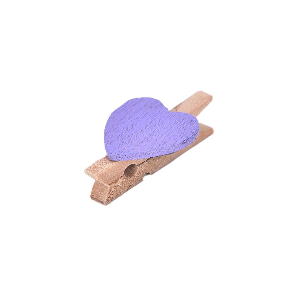 20 Chiếc DIY Mini Trái Tim Gỗ Chốt Clothespin Vật Dụng Văn Phòng Thủ Công Kẹp Quần Áo Giấy PEG Clothespin 3.5x0.7cm