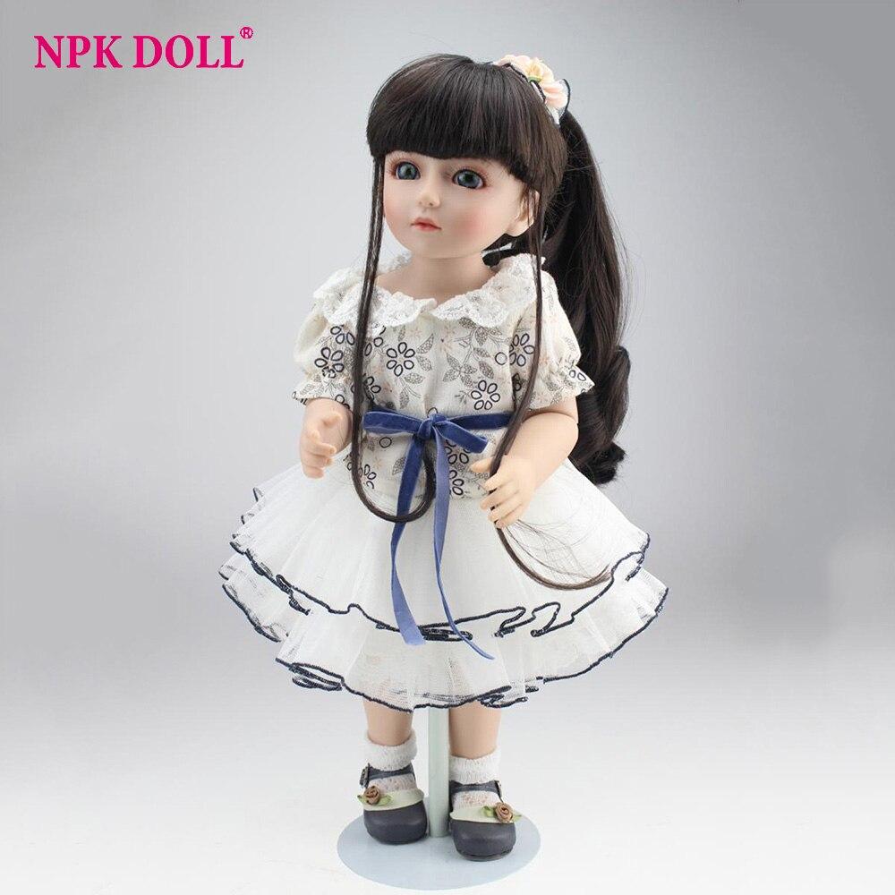 45cm Bjd Reborn Bebe Dolls Cute Baby Girl Dolls With