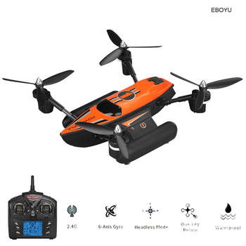WLToys Q353 Triphibian 2.4G 6-Axis Gyro Air-Ground-Water RC Quadcopter Headless Mode One Key Off / Return RTF RC Drone image