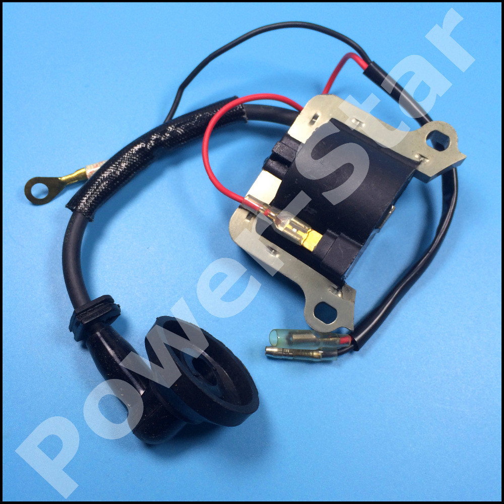 medium resolution of 2 stroke ignition coil 33cc 43cc 49cc mini chopper pocket bike brush engine scooters motorcycle parts