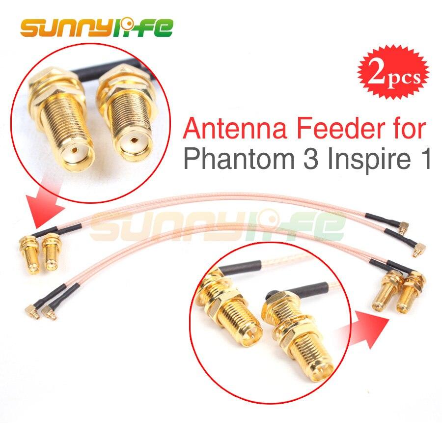 2pcs Phantom 3 Refitting Antenna Feeder Range Extender Accessory for DJI Phantom 3 Inspire 1 Remote