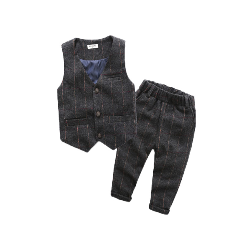 a7ffaf12e School Boys Plaid Formal Suits Birthday Wedding Party Dress Kids Gentleman  Waistcoat Pants 2Pcs Piano Show Performance Clothes ~ Perfect Sale June 2019