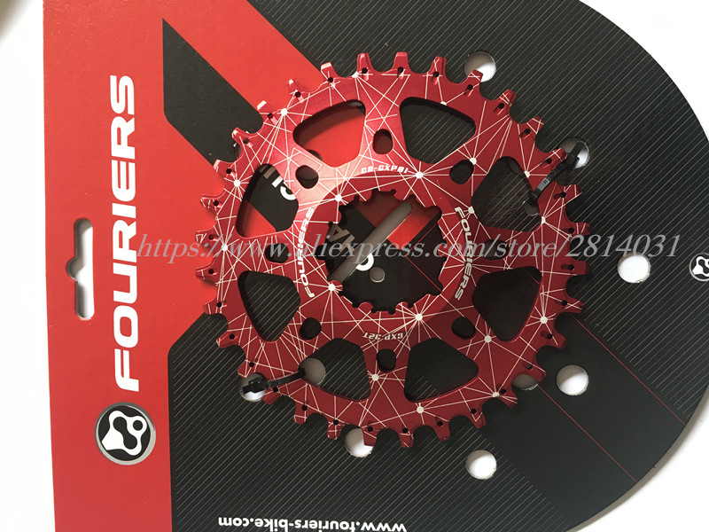 FOURIERS MTB Bicycle Chainring  GXP Chainwheel Mountain Bike Crankset  Compatible with XX1/ X0/ X9 and GXP cranks 30-38T cnc alloy mtb bike bicycle chain bash guard mount chainring guide 30 40t p c d 104mm bike crankset protection