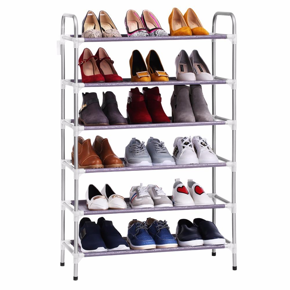 Adjule 4 Floor Shoe Rack Tower Shelving Storage Organizer For Entryway Closet Living Room Bedroom 5 6