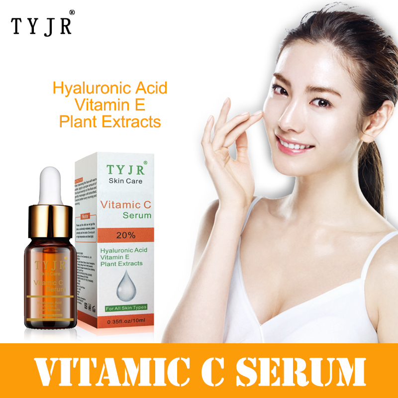 10ml Vitamin C Serum Facial Skin Whitening Treatment Moisturizing Anit Aging Anti Wrinkle Firming Face Serum Skin Care TSLM2
