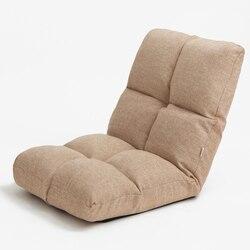 Luksusowe Memory Foam regulowane oparcie podłogi krzesło pościel tkaniny tapicerowane kryty domu salon meble składane pufa relaksacyjna w Krzesła do salonu od Meble na