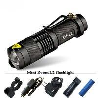 XM L2 Mini Flashlight CREE LED Waterproof Zoomable Flash Light Lantern High Quality Torch Penlight 3800LM
