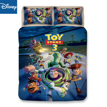 Woody Jessie bedding sets queen size Toy Story 3Dprinted duvet cover set 3/4pc Home Textile King size bed set birthdaygift hot