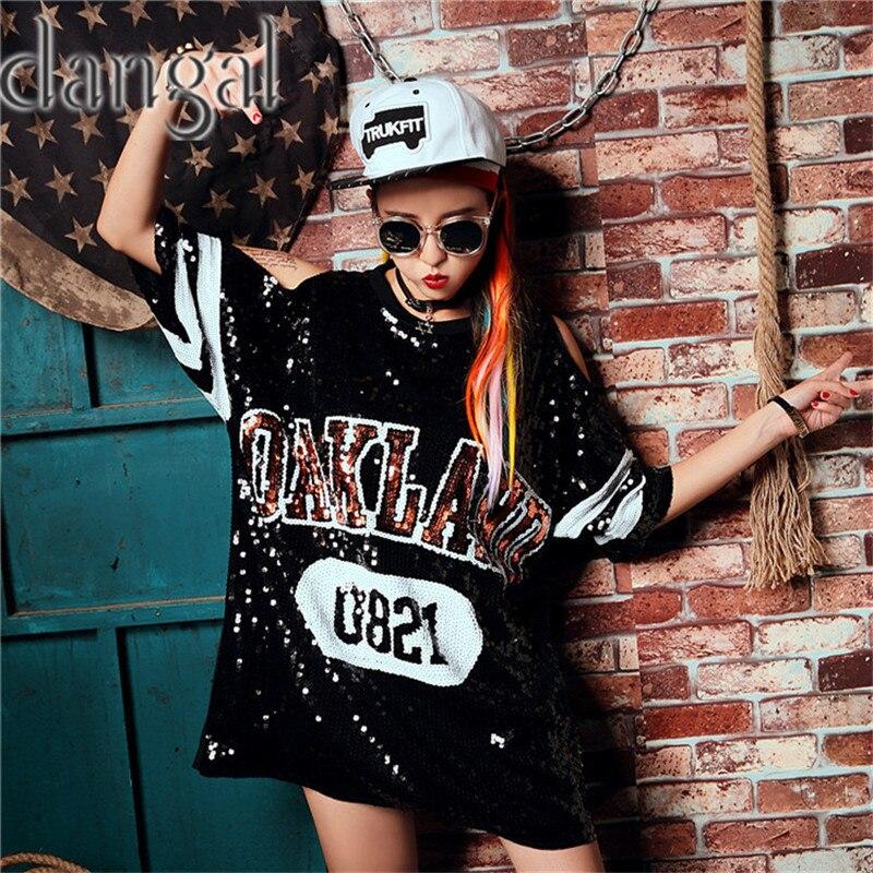 ... camiseta 2018 moda Hip Hop Bling camiseta mujer camiseta de verano mujeres  camiseta de la calle para la etapa Dance Club Party en Camisetas de La ropa  ... 3b3506fe30f