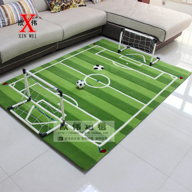 Acrylic Soccer Field For Children Living Room Carpet Tapete Alfombras Tapis Salon Carpets Rugs And