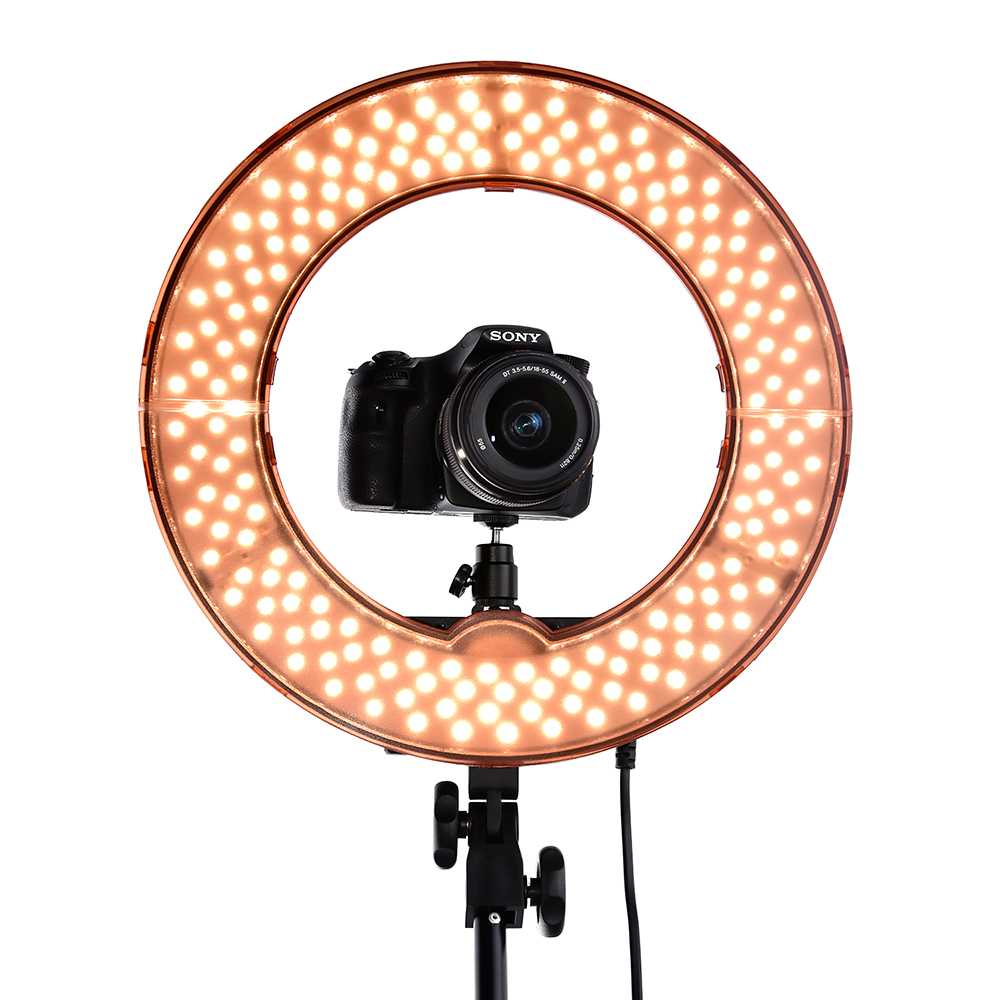 Cadiso 12 35W 240pcs LED Ring Light 5500K Dimmable Warm/Cold Photo/Studio/Phone/Video Youtube Makeup lamp barber shop