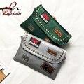 Заклепки значок моды новый стиль дизайна искусственная кожа женская сумка конверт сцепления сумка женская сумочка сумка кошелек кошелек