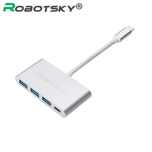Robotsky Ubs 3.1 Type C Naar Usb 3.0 USB-C Type C Hub Converter Super Speed Otg Adapter Kabel Voor Macbook xiaomi 5 S Pc Laptop