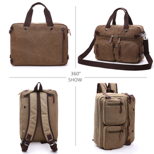 Image 3 - Retro Men Canvas กระเป๋าหนังกระเป๋าเอกสารกระเป๋าเดินทาง Messenger กระเป๋าสะพายด้านหลังกระเป๋าถือลำลองขนาดใหญ่ธุรกิจกระเป๋าแล็ปท็อป