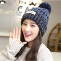 YBZ 2016 New Product Winter Style Spring Wool Patchwork Line Ball Knitting Upset Warm Hats For Women Beanie Hat M89