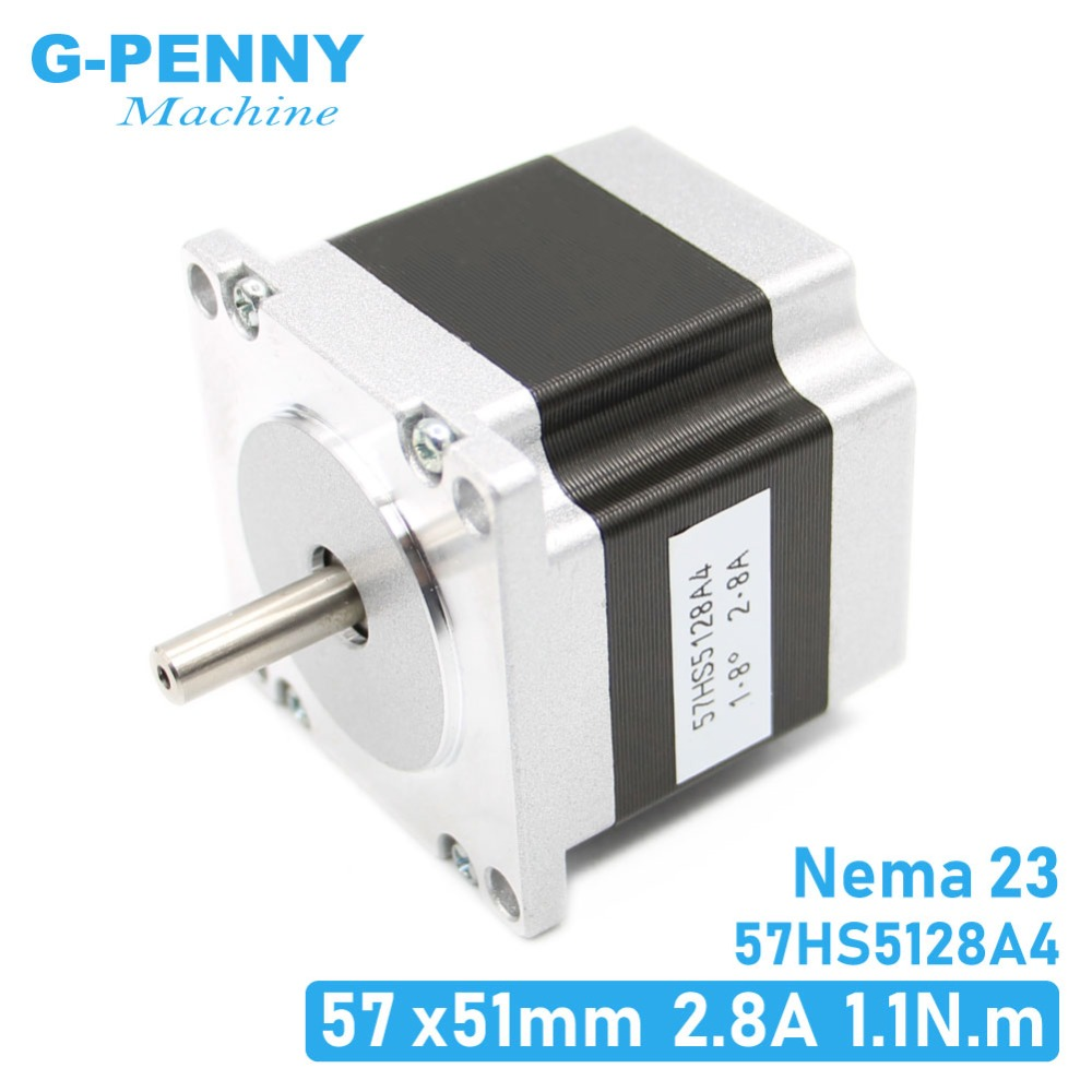 NEMA23 stepper motor 57X51mm 2.8A 1.1N.m stepping motor 157Oz-in Nema 23 CNC for router engraving milling machine 3D printerNEMA23 stepper motor 57X51mm 2.8A 1.1N.m stepping motor 157Oz-in Nema 23 CNC for router engraving milling machine 3D printer