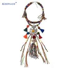 Аксессуары для одежды богемный Бохо этнический бисер ожерелье