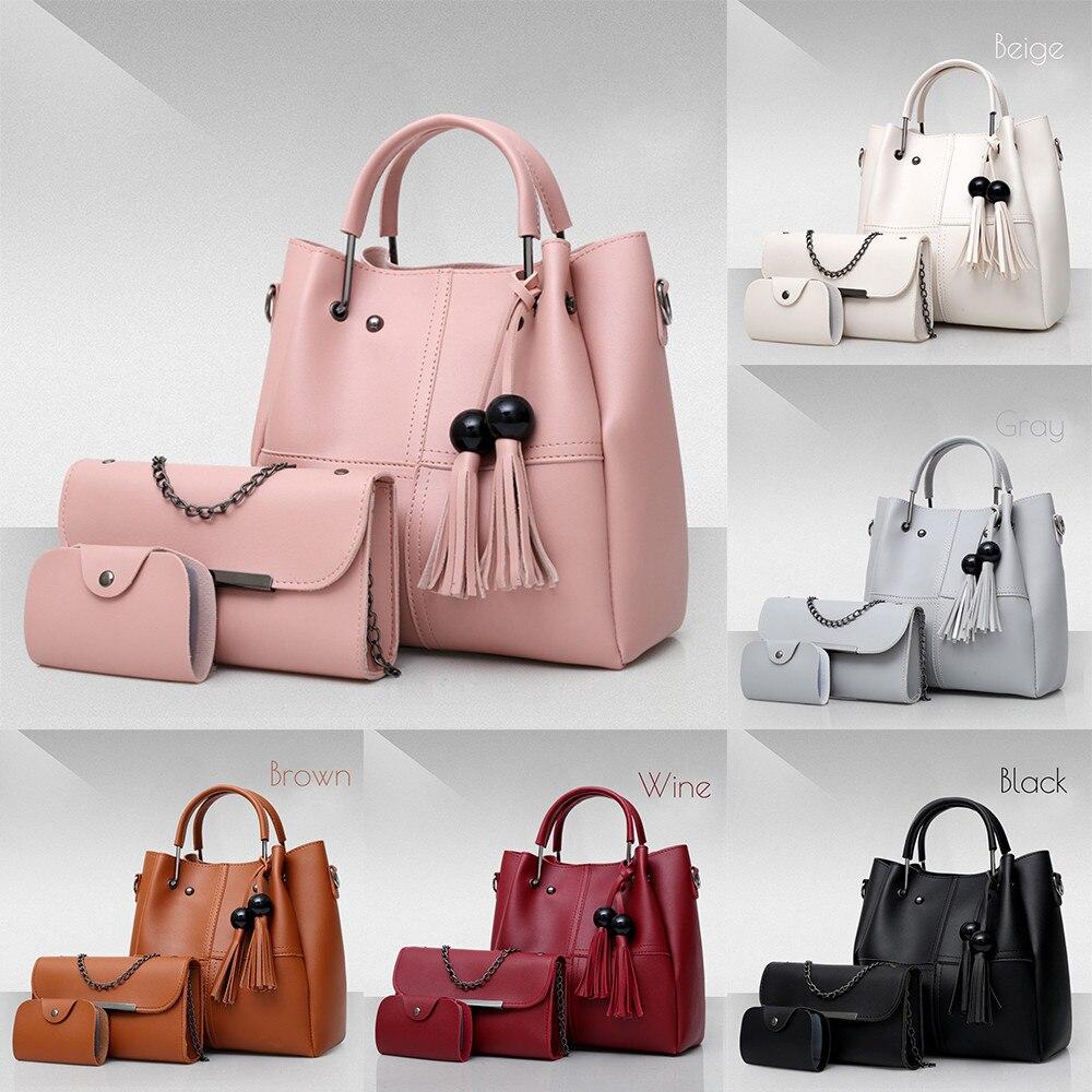 4d12e4a667e0 ... Bags3 Pcs Set Pu Leather Women Bag Casual Female Handbags. -40%. 🔍. 1   2