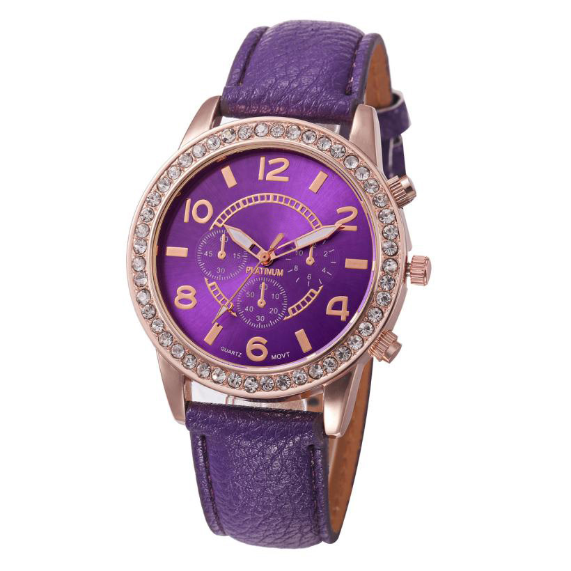 цены Cheap amazing practical classical wonderful Fashion Women's Watch Geneva Luxury Diamond Analog Leather Quartz Wrist Watch P*21