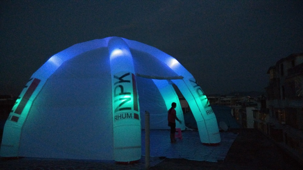 6 Legs White Event Dome Inflatable Tent For Advertising