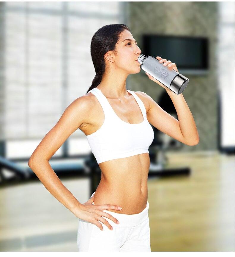 480ml Hydrogen-Rich Water Cup Water Ionizer Generator Bottle Electrolysis Antioxidants ORP Energy Healthy Glass