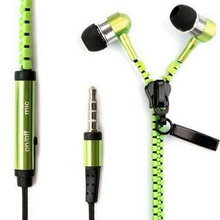 Handsfree Zipper Style Mini Earphone 3.5mm Aux Audio Jack In Ear Headphones Ear phones Hand