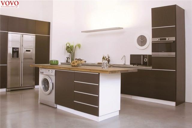 Coffee Color Kitchen Cabinet In Matt Finish