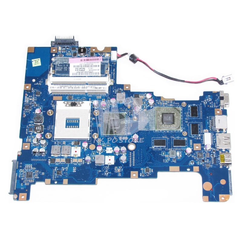 NOKOTION K000103790 MAIN BOARD For Toshiba Satellite L670 L675 Laptop Motherboard NALAA LA-6042P HM55 Free CPU DDR3 HD5650M 1GB nokotion mb k000104390 main board for toshiba satellite a660 a665 laptop motherboard la 6062p rev 2 0 hm55 gt330m ddr3