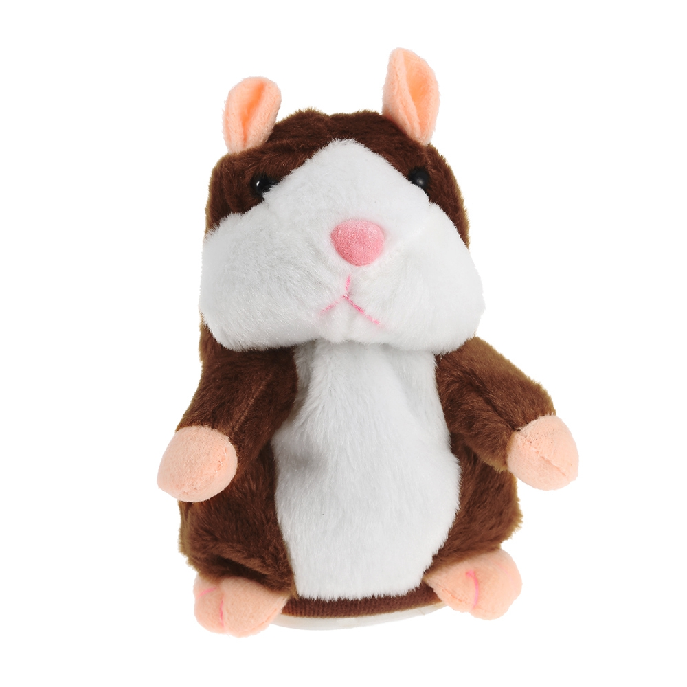 Colorful Mini Kawaii Talking Hamster Mouse Pet Plush Toy Speak Talking Sound Hamster Learning Education Toy for Children Gifts
