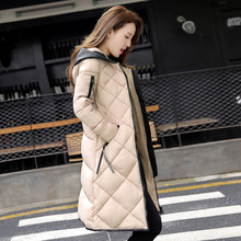 2017 New Fashion Winter Cotton Wadded Jacket Female Women Slim Parkas Plus Size Womens Jackets Thickening Hooded Gloves Outwears