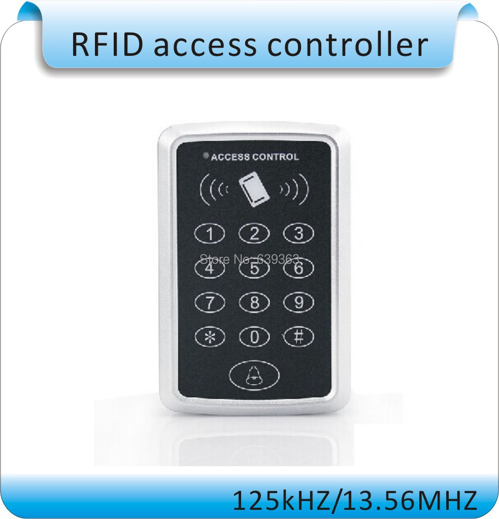 DIY RFID 125Khz ID card entry lock door Standalone Touch screen Single door access controller system  +9V DC+10pcs cards backlight metal shell ip68 waterproof rfid 125khz em id smart card entry lock keypad standalone door access control system