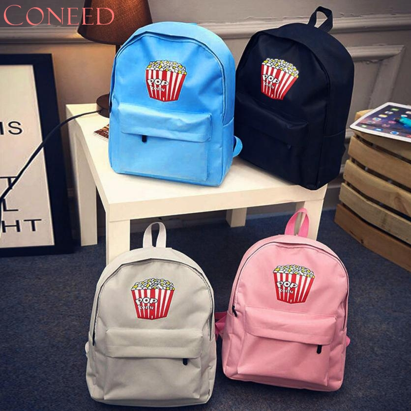 CONEED Drop Ship 2017 Hot Women Girls school bags POPO Corn Canvas Preppy Shoulder Bookbags School Travel Bag Oct10
