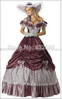 Offre spéciale limitée dans le temps expédition naturelle coloniale guerre civile Scarlett/sud Belle Lolita Cosplay robe de bal robes