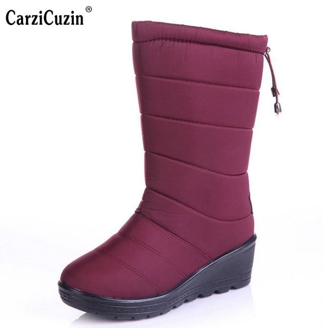 Chaussures de femmes chaudes chaudes hiver neige demi-bottes 6 couleurs ehcg72l1