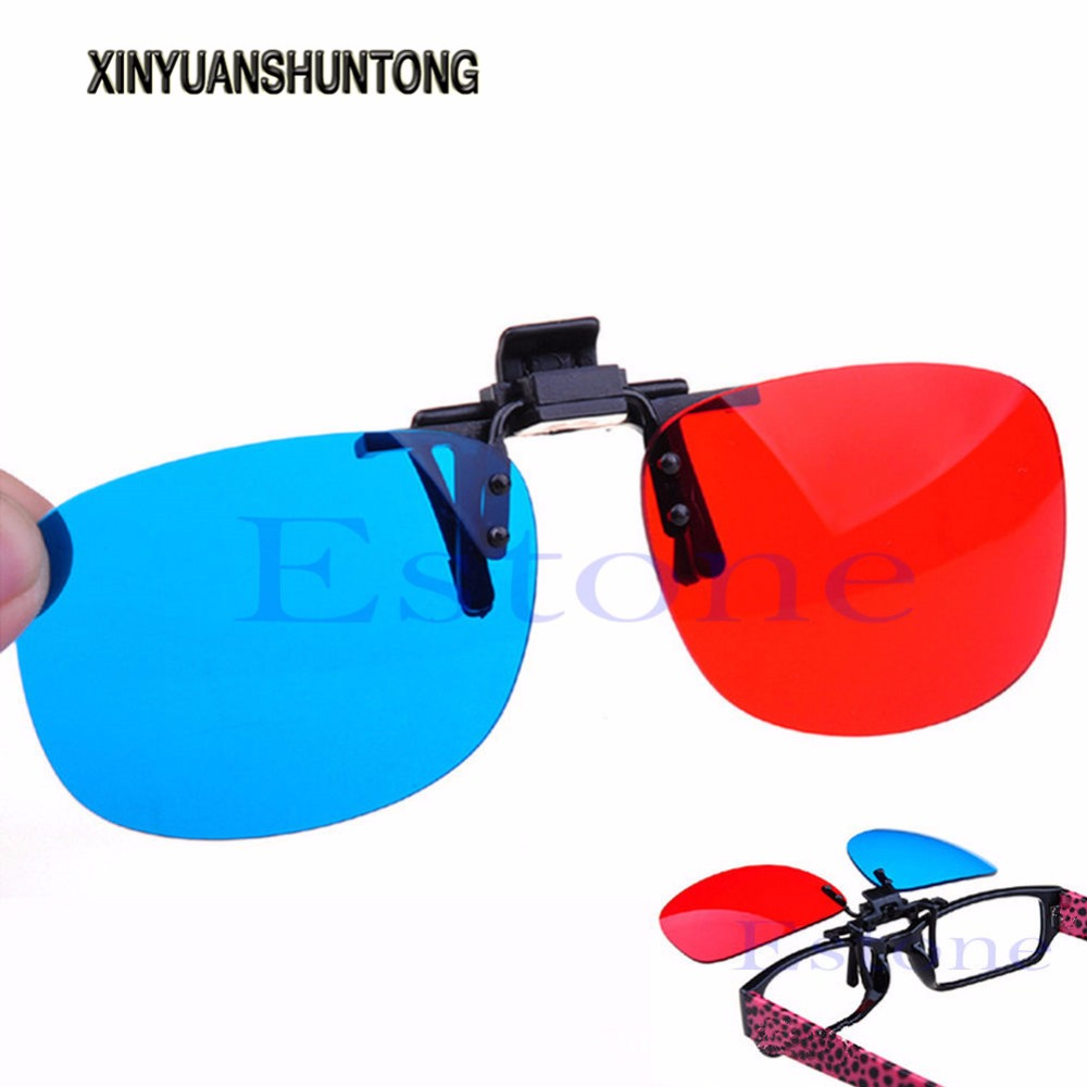 XINYUANSHUNTONG 3D Glasses New Red Blue 3D Glasses Hanging Frame 3D Glasses Myopia Special Stereo Clip Type