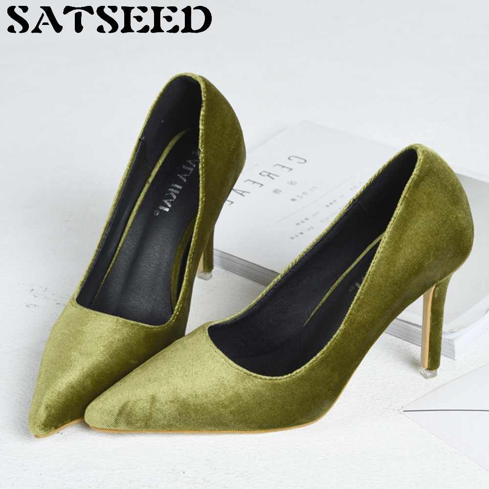 Summer Women Pumps Pointed Toe Stilettos Nightclub Sexy Flock Slip On Shallow Mouth Shoes Super High Thin Heel Fashion New fashion women ladies pumps solid color spring summer pointed toe thin heel shoes new arrival high quality brand slip on pumps