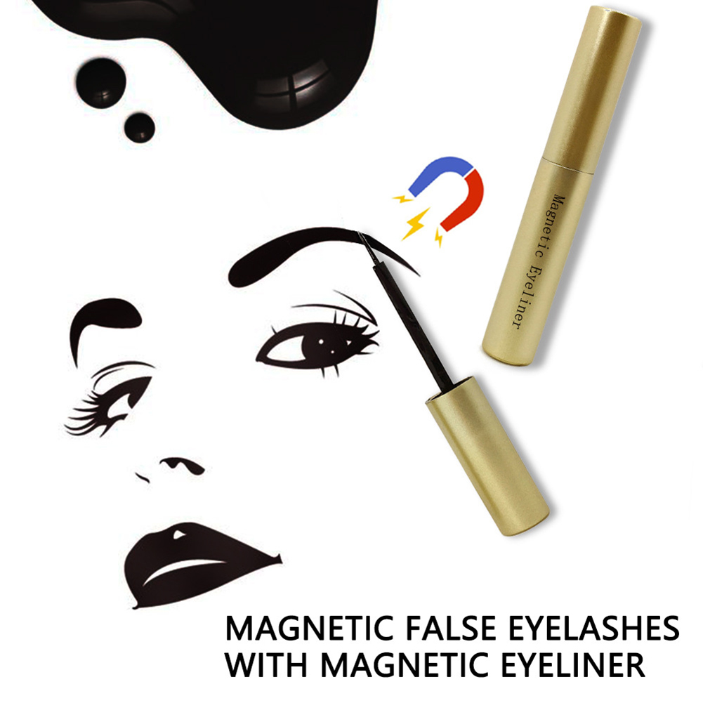 NEW Liquid Eyeliner with Waterproof 3D Magnetic Extension False Eyelashes Makeup Kit in False Eyelashes from Beauty Health