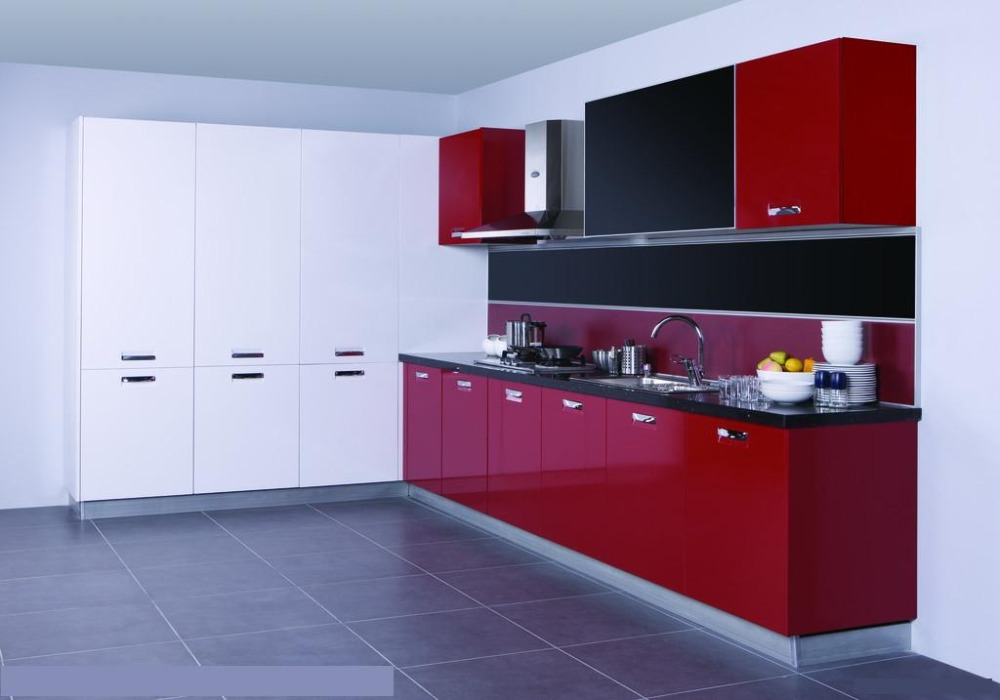 High Gloss Blood Red Color Kitchen Design K019 In Cabinets From Home Improvement On Aliexpress Alibaba Group