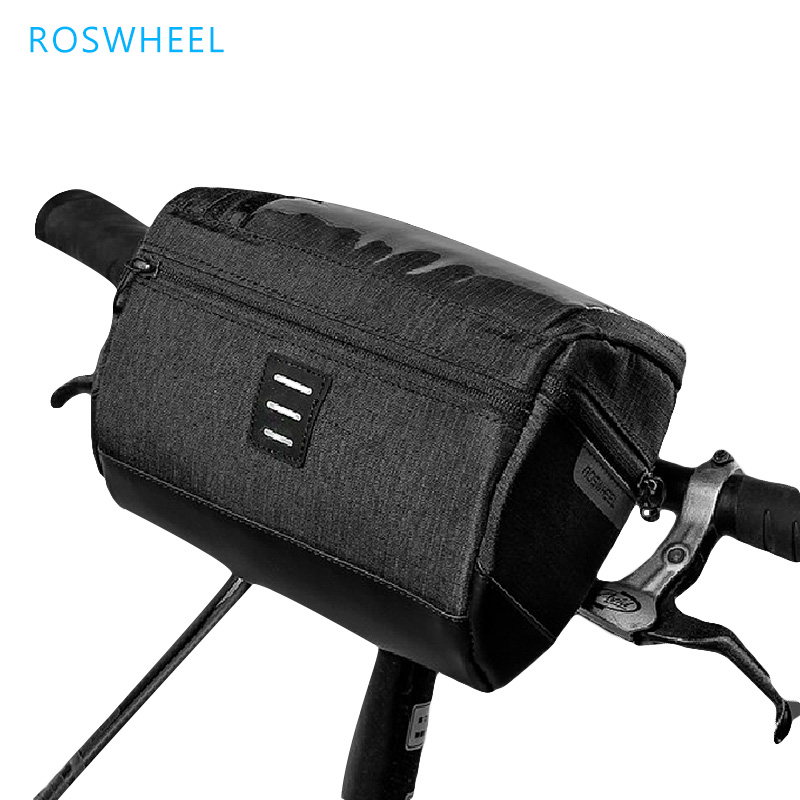 ROSWHEEL Bicycle Head Bag Pvc Touch Screen Bavigation Bags For Bicycle Nylon Rainproof Hand Bag Bike Accessories Bicycle Basket цена
