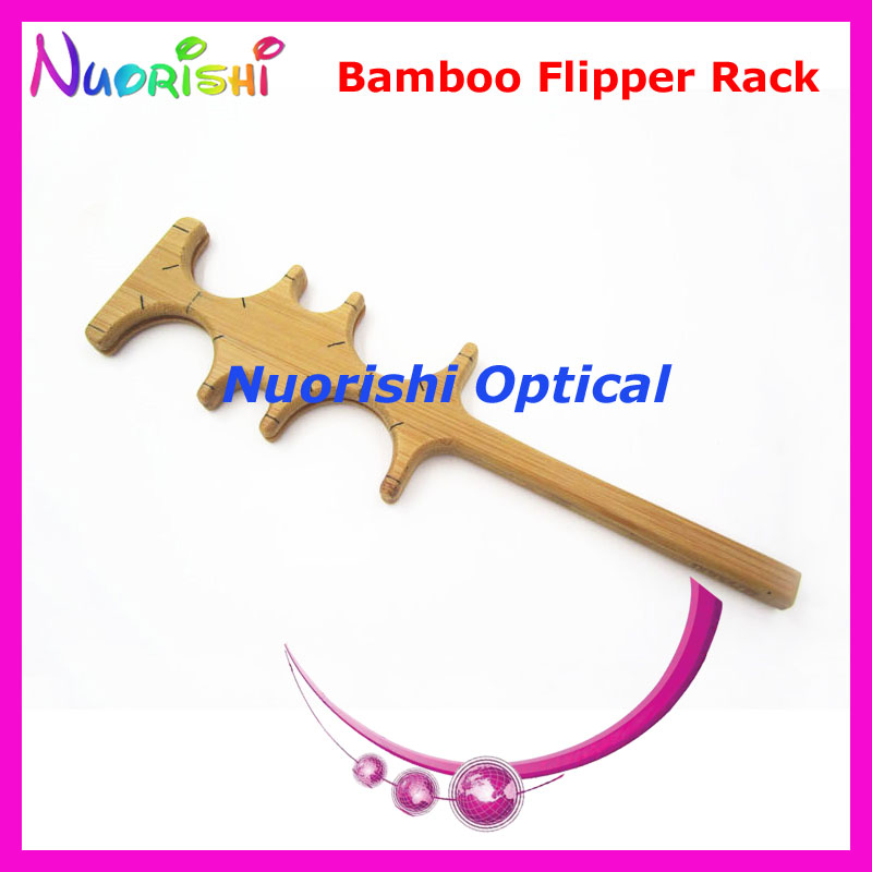 Bamboo Confirmation Flipper Test Empty Rack Frame For 4pcs Trial Lenses Vision Testing E04-2511 Free Shipping