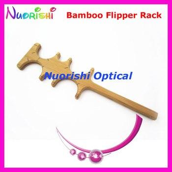 Marco de bastidor vacío de prueba Flipper de confirmación de bambú para 4 Uds. E04-2511 de prueba de visión de lentes de prueba envío gratis