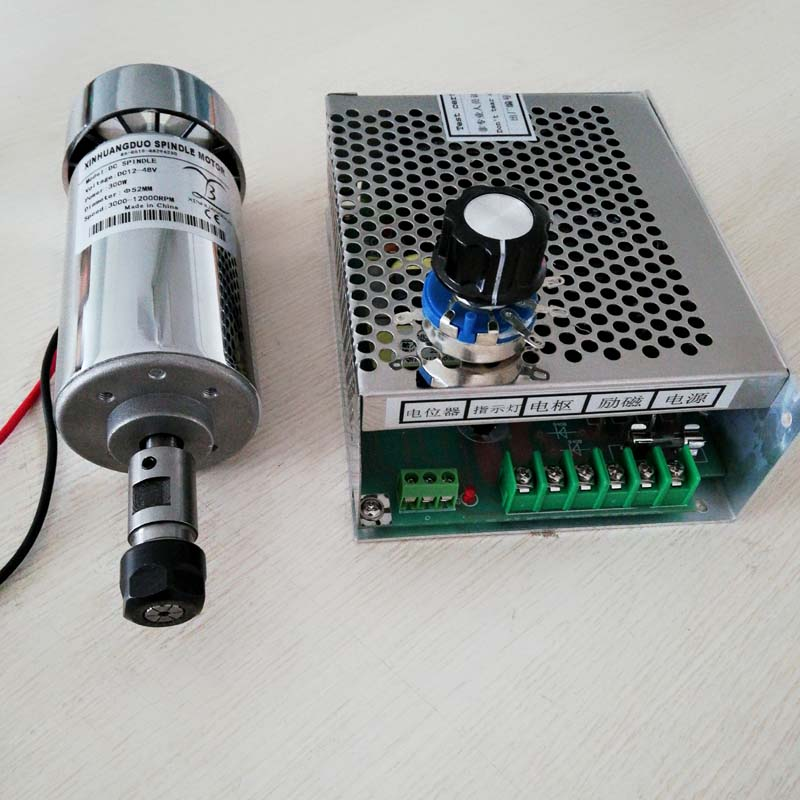 CNC Spindle 300W Air Cooled Spindle Kit,0.3KW Motor Spindle with Power Supply Speed Governor For DIYCNC Spindle 300W Air Cooled Spindle Kit,0.3KW Motor Spindle with Power Supply Speed Governor For DIY