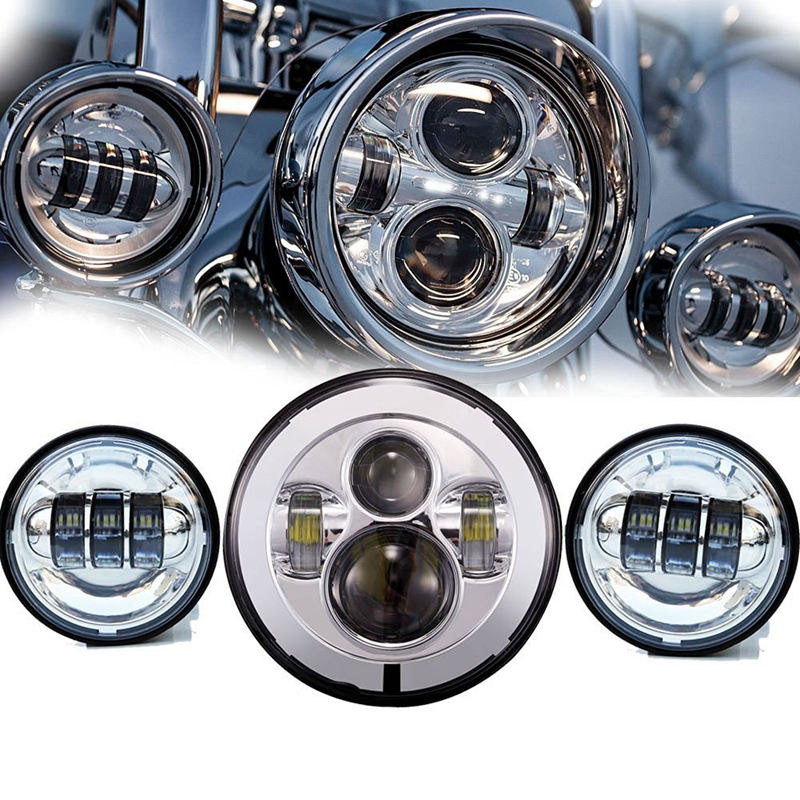 7 Inch Chrome Harley Daymaker Led Headlight 2x 4 1 2