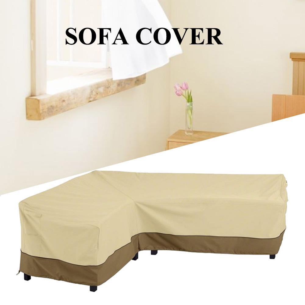 1PCS L Shape Sofa Cover Patio Outdoor Garden Furniture Waterproof Protector 210D