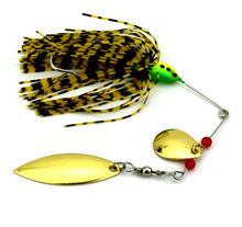 50Pcs Spinnerbait 16G Metal Sequins Lures Silicone Skirt Jig Fishing Lure Wobbler Spinner Beard Tackle