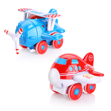 2pcs/set Cute Cartoon Aircraft Colorful Mini Model Plastic Alloy Diecast Airplane Toys For Children Kids Birthday Gift