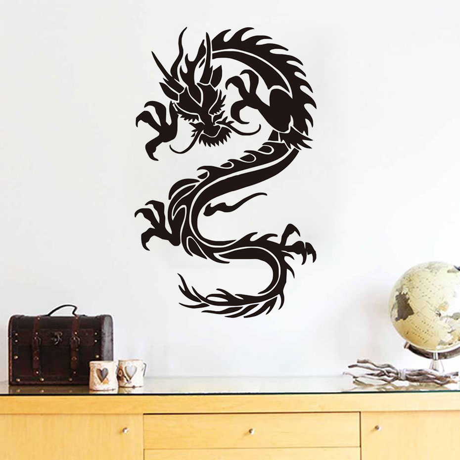 Chinese style home decor dragon wall stickers adhesive removable chinese style home decor dragon wall stickers adhesive removable pvc material design wall decal for living room in wall stickers from home garden on amipublicfo Choice Image