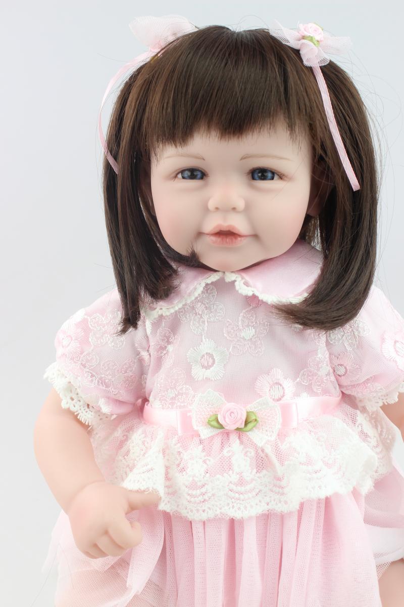 ФОТО 20inch 52CM lovely dolls for girls  Vinyl  reborn baby doll bonecas  brinquedos meninas kids toys
